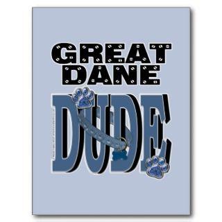 Happy Birthday   Stone Paws   Great Dane   Grey Postcard
