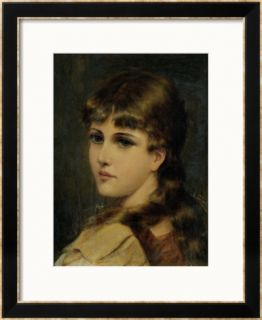 Portrait of a Young Girl Framed Giclee Print