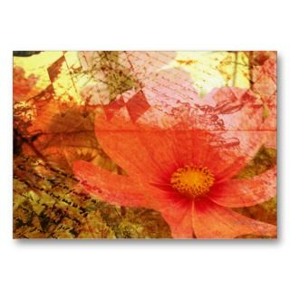 Floral Grunge   Artist Trading Cards business cards by Guiltypleasures