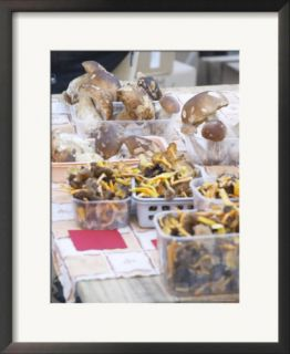 Mushrooms at a Market Stall, Bergerac, Dordogne, France Pre made Frame
