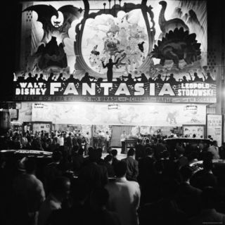 Audiences Gathered Outside Theater For the Brazilian Premiere of Walt Disneys Fantasia Photographic Print by Hart Preston