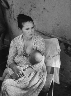 Common Law Wife of Farmer Pedro Pablo Caceres Breast Feeding Infant Premium Photographic Print by Leonard Mccombe