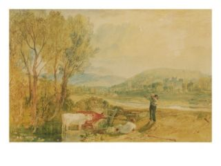 Lulworth Castle, Dorset, C.1820 (W/C with Scratching Out on Wove Paper) Giclee Print by Joseph Mallord William Turner
