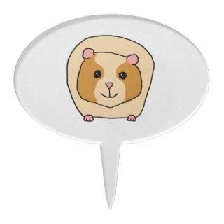 Guinea Pig Cartoon. Cake Topper