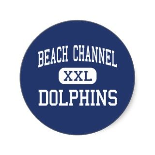 Beach Channel   Dolphins   High   Rockaway Park Stickers