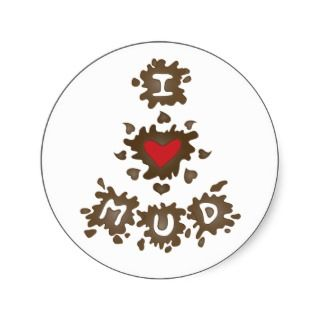 Heart Mud Sticker
