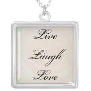 Live, laugh, love Necklace