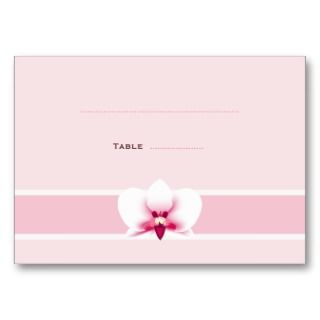 White Orchid Place Cards Business Card