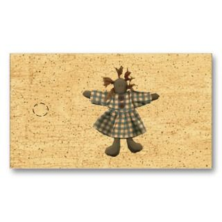 Primitive Doll Hang Tag Business Card