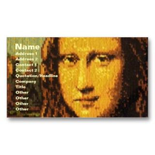 cross stitch artwork of Mona Lisa. Fully Customizable as always