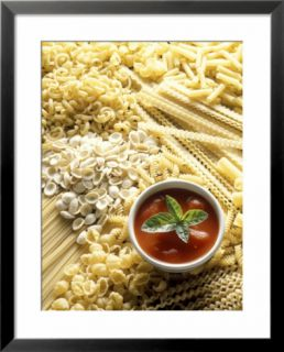 Pasta Still Life with Tomato Sauce Pre made Frame
