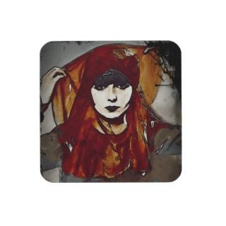 Glam Girl Louise in Scarves Coaster