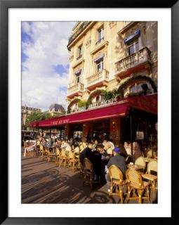 Outdoor cafe, Paris, France Pre made Frame