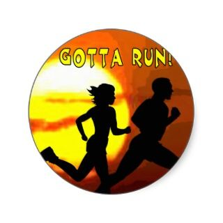CROSS COUNTRY STAMP MOTTO   GOTTA RUN! STICKERS