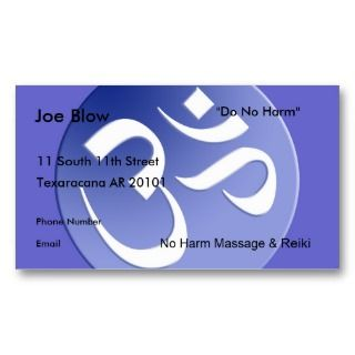 Aum or Om Symbol in blues Business Cards
