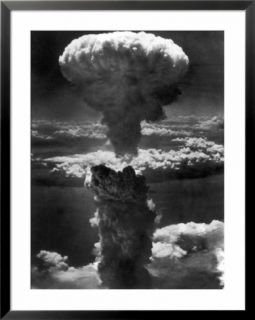 Atomic Bomb Smoke Capped by Mushroom Cloud Rises More Than 60,000 Feet Into Air over Nagasaki Pre made Frame