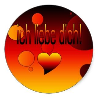 Ich Liebe Dich German Flag Colors Pop Art Sticker