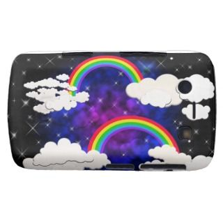 Rainbows, Stars and Clouds in a Night Sky Blackberry Bold Covers