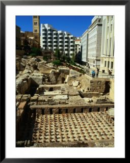 Roman Baths Uncovered During Excavations, Beirut, Lebanon Pre made Frame