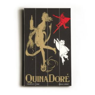 Quina Dore, Wine Advertisement Wood Sign