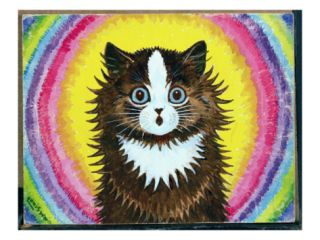 Cat in a Rainbow Giclee Print by Louis Wain