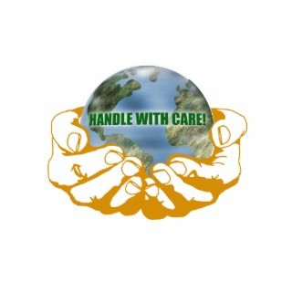 Earth Handle With Care Eco Ornament Cut Out