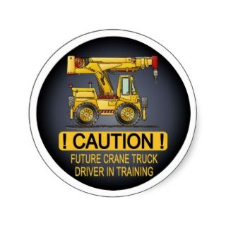 Future Crane Truck Driver Kids Sticker