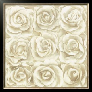 Nine White Roses Pre made Frame