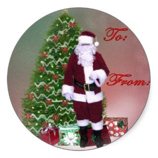 Santa Gift Tag Sticker