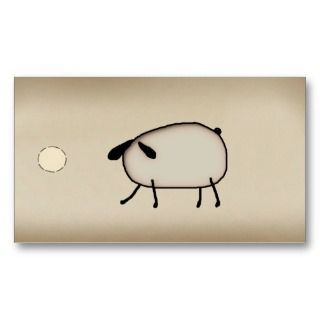 Primitive Sheep Hang Tag Business Cards