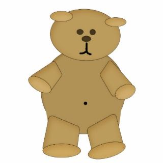 Baby Belly Button Bear magnet sculpture Photo Cut Outs