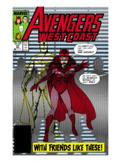 Avengers West Coast #47 Cover: Scarlet Witch and Vision Print by John Byrne