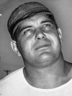 A Close Up Portrait of Redskin Football Player Turk Edwards, Wearing a Small Cap Premium Photographic Print by Carl Mydans