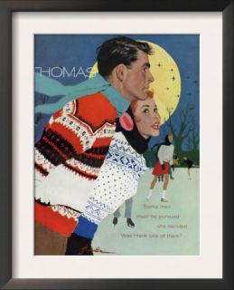 Romantic Moonlit Ice Skating Pre made Frame