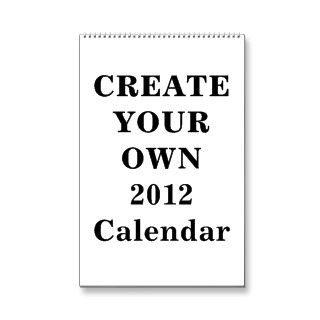 Create Your Own 2012 Calendar (One Page Standard)