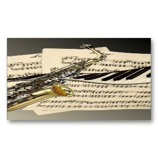 and Piano Music Social Profile Business Cards