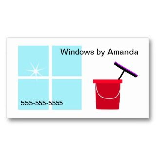 window cleaning business. White background, red bucket and squeegee
