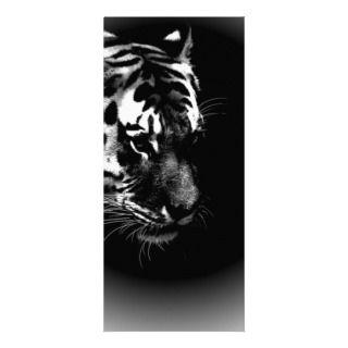 Black & Wild Tiger Head Rack Card Template