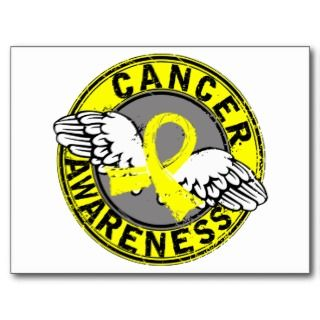 Bladder Cancer Yellow Ribbon Postcards & Postcard Template Designs