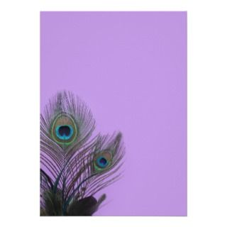 Peacock Place Card (purple) Business Card Template