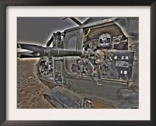 A UH 60 Black Hawk Door Gunner Manning a M240G Medium Machine Gun Pre made Frame