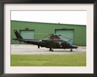 The Agusta A 109 Helicopter of the Belgian Army Pre made Frame by Stocktrek Images