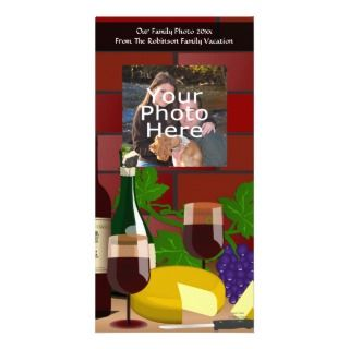 Wine Cheese Table Scene Photo Card Template