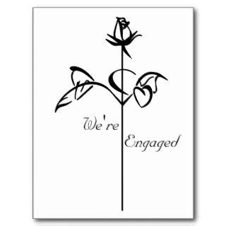 Long Stem Rose Postcards & Postcard Template Designs