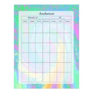 off Chart Fuzzy Colors Design Letterhead Template