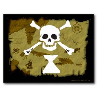 Jolly Roger Map #9 Post Card