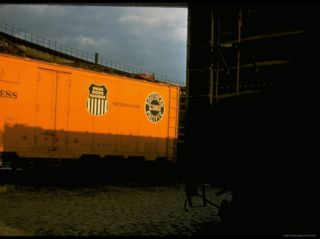 Refrigerated Box Car with the Union Pacific Railroad Logo and Southern Pacific Line Premium Photographic Print by Walker Evans