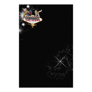 Las Vegas Welcome Sign On Starry Background Personalized Stationery