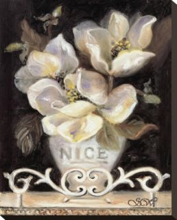 Magnolias of Nice Stretched Canvas Print by Shari White