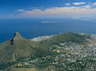 Aerial View Over Lions Head from Table Mountain, Cape Town, South Africa Photographic Print by Fraser Hall